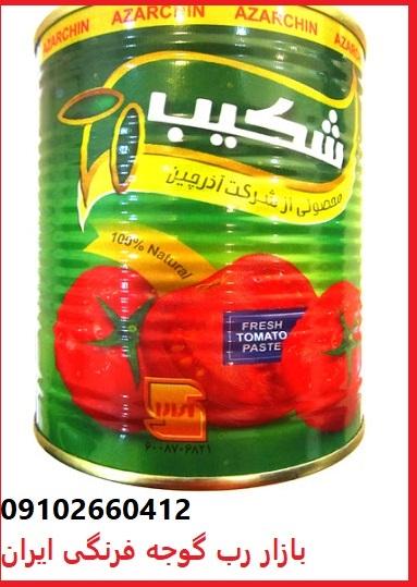 قیمت جدید رب گوجه فرنگی شکیب